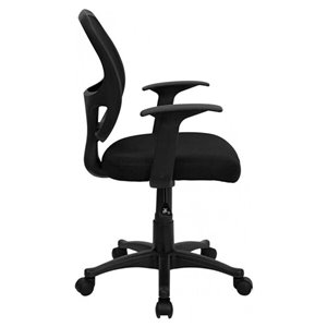 Nicer Interior Ergonomic Office Chair with Arms - Black
