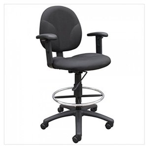 Nicer Interior Multi-Function Ergonomic Drafting Chair - Black Fabric
