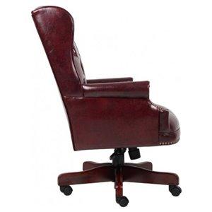 Nicer Interior Traditional Executive Chair - Burgundy