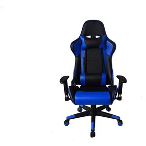 Nicer Interior Ergonomic Gaming Chair with Head Cushion - Blue