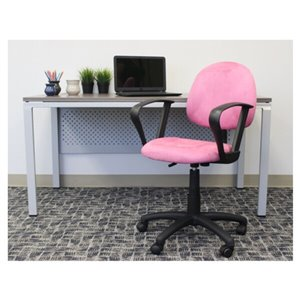 Nicer Interior Perfect Posture Desk Chair with Arms - Pink