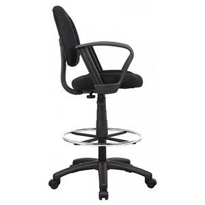 Nicer Interior Drafting Chair - Black Fabric