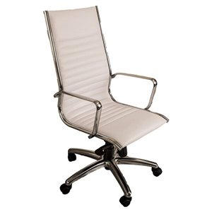 Nicer Interior Traditional Executive Chair - High Back - White