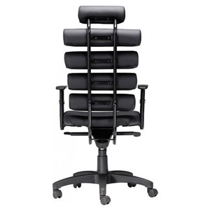 Nicer Interior Modern Executive Chair - Black Faux Leather