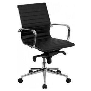 Nicer Interior Modern Executive Chair - Black Polyurethane