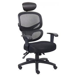 Nicer Interior Multi-Function Ergonomic Desk Chair - Black Fabric