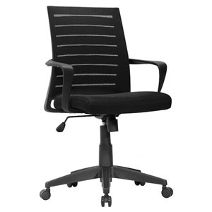 Nicer Interior Ergonomic Office Chair - Adjustable Arms - Black