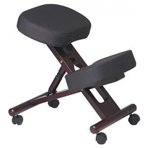 Nicer Interior Memory Foam Drafting Chair - Black/Cherry Brown