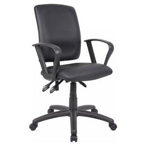 Nicer Interior Multi-Function Ergonomic Desk Chair - Black Polyurethane