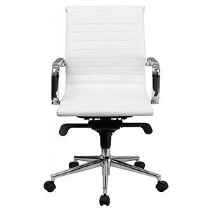 Nicer Interior Executive Chair - White Polyurethane Leather
