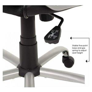 Nicer Interior Ergonomic Executive Office Chair - Black Polyurethane