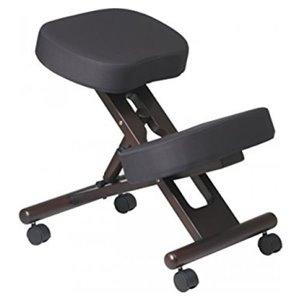 Nicer Interior Memory Foam Drafting Chair - Black/Espresso