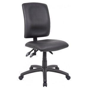 Nicer Interior Multi-Function Ergonomic Office Chair - Black Polyurethane