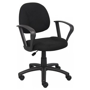 Nicer Interior Deluxe Computer Chair with Arms - Black