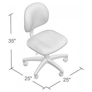 Nicer Interior Deluxe Computer Desk Chair - Black