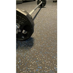 RubberMax Roll Multipurpose Flooring - 48-in x 300-in - Black Rubber