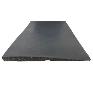 RubberMax Ramp Tile Multipurpose Flooring - 10-in x 39-in - Black Rubber