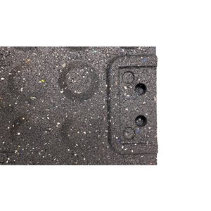 RubberMax Tile Multipurpose Flooring - 19.75-in x 19.75-in - Grey/Black