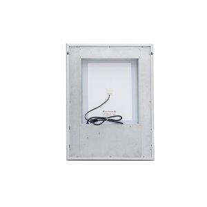 Sunjoy Luxury LED Mirror - 36-in x 24.02-in - Silver