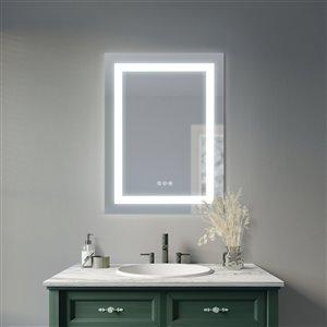 Sunjoy Luxury LED Mirror with Bluetooth Speaker - 24.02-in x 32.01-in - Silver