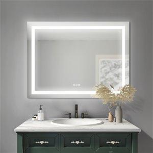 Sunjoy Luxury LED Mirror with Bluetooth Speaker - 47.8-in x 32.01-in - Silver