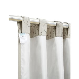 North Home Rolea Single Curtain Panel - Rod Pocket - 96-in - Beige