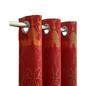 North Home Spencer Single Curtain Panel - Grommet - 96-in - Burgundy