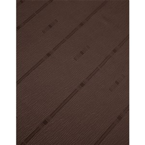 North Home Princeton Single Curtain Panel - Rod Pocket - 96-in - Brown