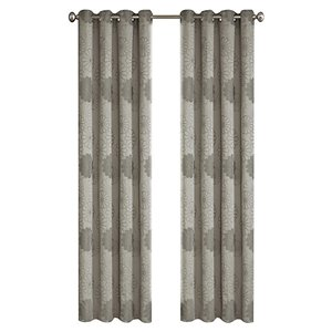 North Home Rolea Single Curtain Panel - Grommet - 96-in - Silver Grey