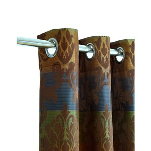 North Home Spencer Single Curtain Panel - Grommet - 96-in - Coffee