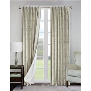 North Home Ivy Single Curtain Panel - Grommet - 96-in - Taupe
