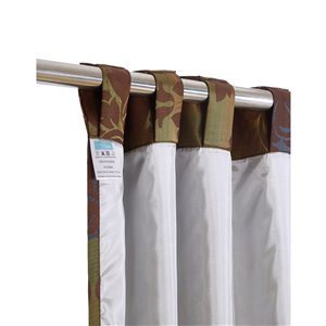 North Home Spencer Single Curtain Panel - Rod Pocket - 96-in - Coffee