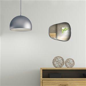 Jade Bath Shay Decorative Mirror - 18.9-in x 16.54-in - Polished Chrome
