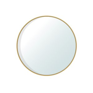 Jade Bath Dex Round Decorative Mirror - 47.24-in x 47.24-in - Brushed Gold