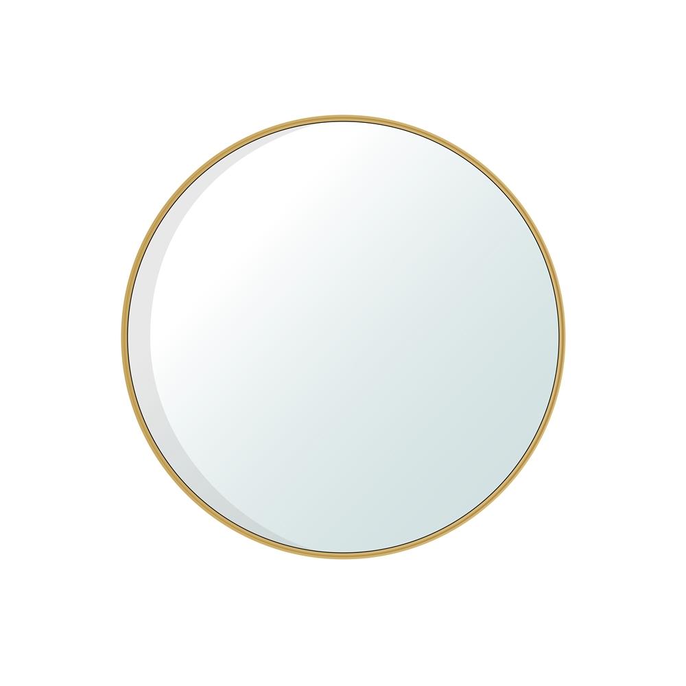 Jade Bath Dex Round Decorative Mirror 30 In X 30 In Brushed Gold Lowe S Canada