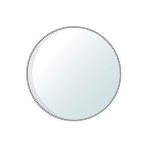 Jade Bath Dex Round Decorative Mirror - 47.24-in x 47.24-in - Polished Chrome