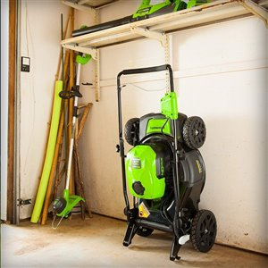 Greenworks Cordless and Brushless Push Lawn Mower - 40-Volt - 20-in - 1 Lithium-Ion Battery