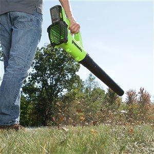 Greenworks Axial Cordless Leaf Blower - 24-Volt - 530 CFM