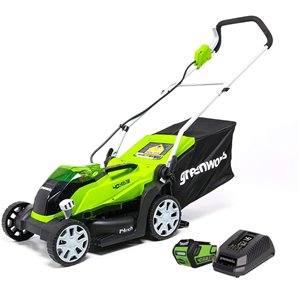 Greenworks Cordless Push Lawn Mower - 40-Volt - 14-in - 1 Lithium-Ion Battery
