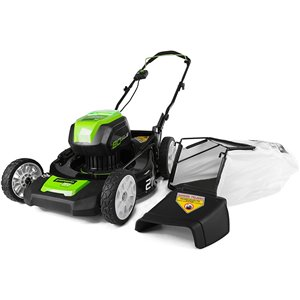 Greenworks Pro Cordless and Brushless Push Lawn Mower - 80-Volt - 21-in - 1 Lithium-Ion Battery