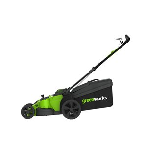 Greenworks Cordless Push Lawn Mower - 40-Volt - 20-in - 2 Lithium-Ion Batteries