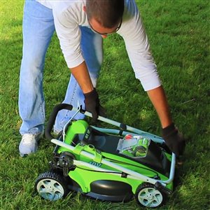 Greenworks Cordless Push Lawn Mower - 40-Volt - 16-in - 1 Lithium-Ion Battery