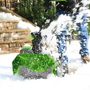 Greenworks Cordless and Brushless Snow Blower - 40-Volt - 20-in