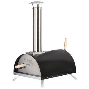 WPPO Le Peppe Portable Eco Wood Pizza Oven - Brick Hearth - Black
