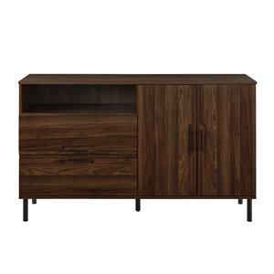 Walker Edison Modern Buffet - 56-in - Dark Wlanut