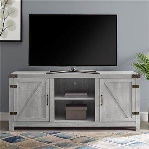 Walker Edison Farmhouse TV Stand - 58-in - Stone Grey