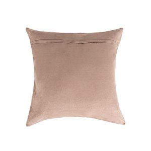 Natural by Lifestyle Torino Cowhide Madrid 2-Piece Natural and Gold 18-in x 18-in Square Indoor Decorative Pillow