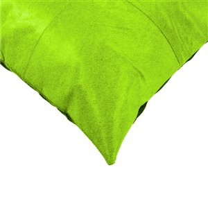 Natural by Lifestyle Torino Cowhide Quattro 2-Piece Lime 18-in x 18-in Square Indoor Decorative Pillow