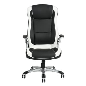 FurnitureR Adjustable Executive Office Chair - Black