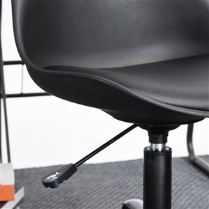 FurnitureR Curve Style Swival Office Chair - Black